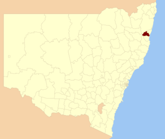Bellingen Shire - Location in New South Wales