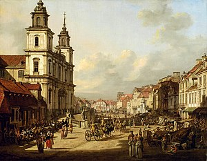 Holy Cross Church, Warsaw - Image: Bellotto Church of the Holy Cross in Warsaw