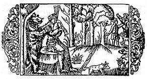 Skomorokh - Belarusian skomorokhs as they appear in a 1555 German etching