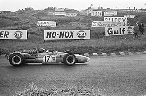 Jean-Pierre Beltoise - Beltoise at the 1968 Dutch Grand Prix.
