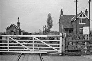 Axholme Joint Railway - Belton station in 1961, shortly before closure of the line
