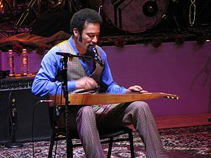 Ben Harper - Harper playing a Weissenborn in Massey Hall, Toronto, Ontario, 2008