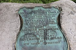 Photo of Benedict Arnold bronze plaque
