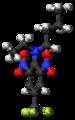 Benfluralin molecule ball.png