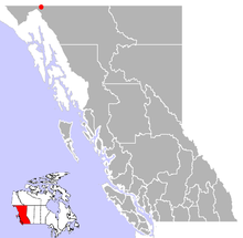 Location of Bennett, British Columbia
