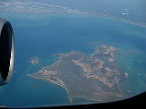 Gulf of Carpentaria - The Gulf of Carpentaria between Bentinck Island and the Australian continent