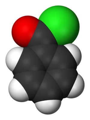 Benzoyl chloride - Image: Benzoyl chloride 3D vd W
