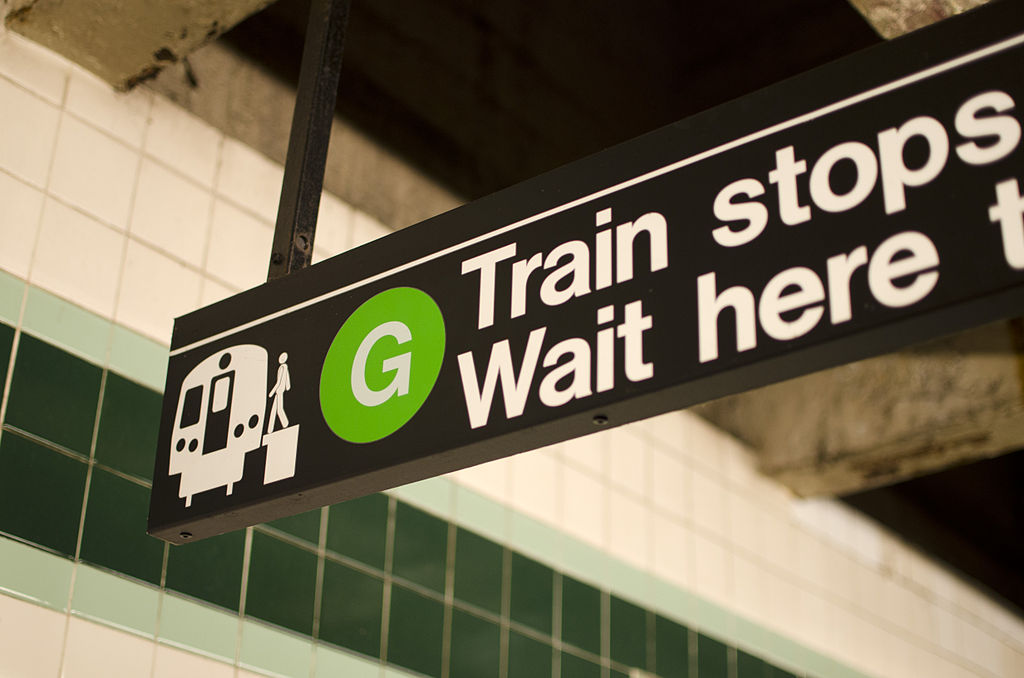 Bergen Street G Train stops here vc