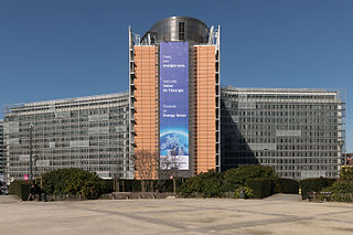 Berlaymont building seat of the European Commission of the European Union