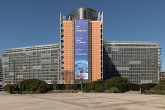 Berlaymont building - The building seen from the Schuman roundabout