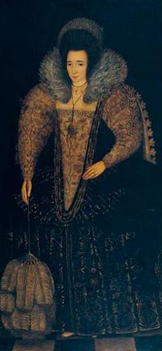 Elizabeth Raleigh - Full-sized portrait of Elizabeth Raleigh, ca. 1600 by Robert Peake the Elder (ca. 1551–1619)