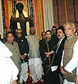 Bhairon Singh Shekhawat at the unveiling ceremony of the statue of Late Shri Bhupesh Gupta, in New Delhi. The Speaker, Lok Sabha, Shri Somnath Chatterjee, the Union Ministers and other dignitaries are also seen.jpg