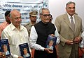 Bhairon Singh Shekhawat releasing 'UDGAR' – a collection of speeches of Dr. Balram Jakhar, Governor of Madhya Pradesh, in New Delhi on May 23, 2006. The Union Minister of Power, Shri Sushil Kumar Shinde is also seen.jpg