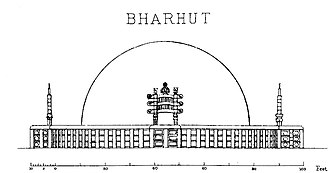 Bharhut - Image: Bharhut stupa original layout