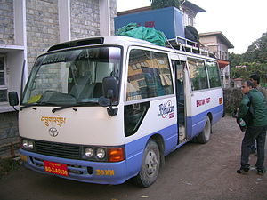 Transport in Bhutan - Postbus that operates a Thimphu-Phuntsholing service