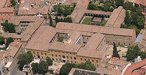 Malatestiana Library - Aerial view of the library building in 2009