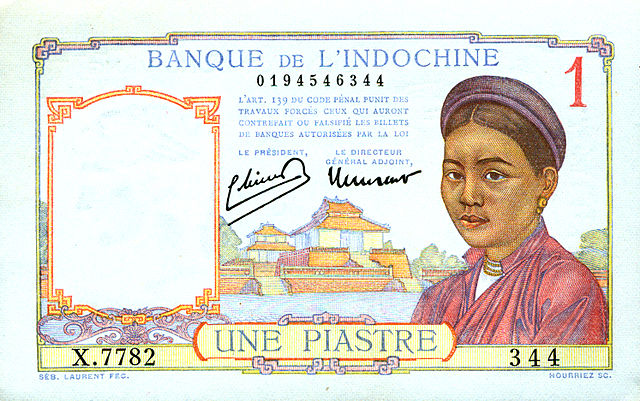 Banknote from the Bank of Indochina