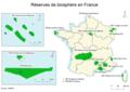 Biosphere reserves in France.png
