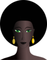 Black woman with green eyes.png