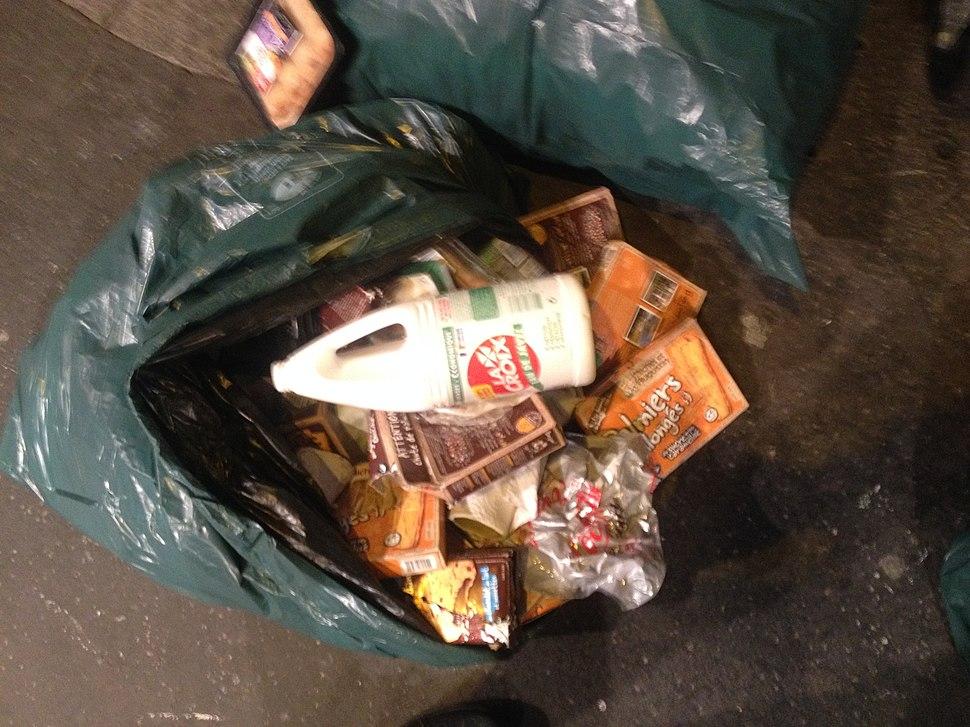 Bleach on food waste