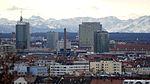 Blick vom Olympiaberg auf den Central Tower München und die ADAC-Zentrale.jpg