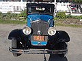Blue 1930 Plymouth Sedan Downtown Lyndonville VT July 2018.jpg