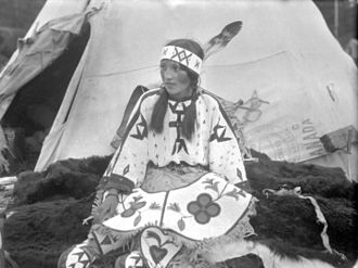 Nakoda (Stoney) - Blue Bird, Nakoda girl