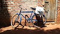Blue Parked Bicycle Outside Chicken House.jpg