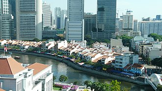 Boat Quay - Aerial view of the quay