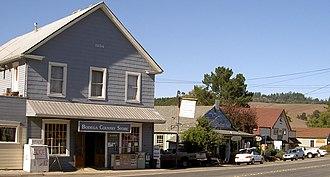 Bodega, California - Bodega in 2008: surf shop and historic general store