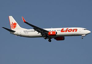 Lion Air - Lion Air Boeing 737-900ER at Singapore Changi Airport
