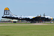 Boeing B-29A Superfortress '461748 - Y' 'It's Hawg Wild' (G-BHDK) (21554818459).jpg