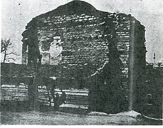 Bogdan Saray - View of the building's remains in 1908, showing the brickwork pattern.