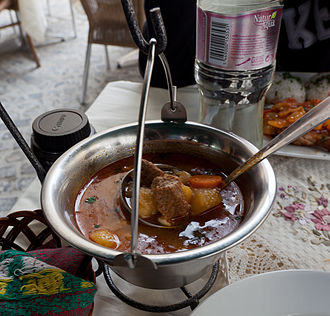 Central European cuisine - Hungarian gulyás soup