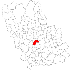 Location of Boldeşti-Scăeni