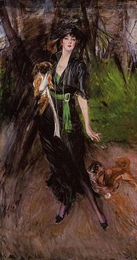 Boldini, Lina Bilitis with two pekineses.jpg
