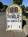 Borne Kilométrique 6 D88 Route Tremblay Villepinte Seine St Denis 11.jpg