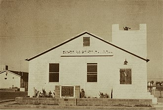 First Baptist Church (Boron, California) - Boron First Baptist Church, c1965