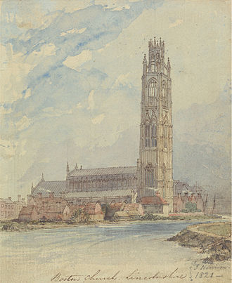 St Botolph's Church, Boston - Boston Church, Lincolnshire, James Harrison, 1821