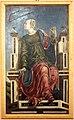 Bottega di cosmè tura, musa urania, 1450 ca., dallo studiolo di belfiore, 01.jpg