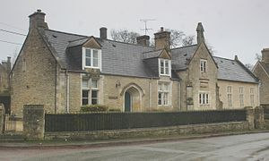 Bourton, Vale of White Horse - Former village school, now a private home
