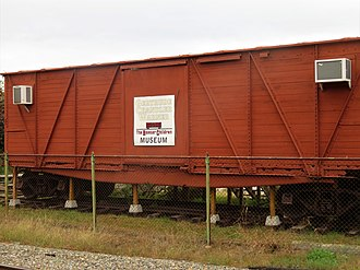The Boxcar Children - Boxcar at the museum in 2018