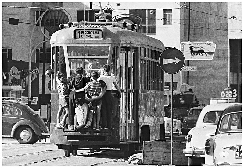 File:Boys of Naples riding a cable tram, 1960.jpg