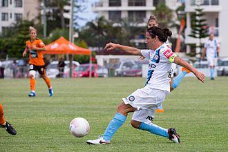 Lisa De Vanna - De Vanna in action for Melbourne City against Brisbane Roar, 2015.