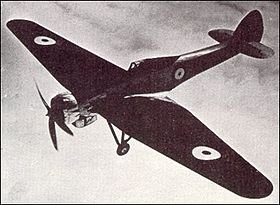 Il Bristol Type 138A in volo sopra Farnborough c. 1937