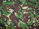 British 'disruptive pattern material' camouflage pattern for clothing