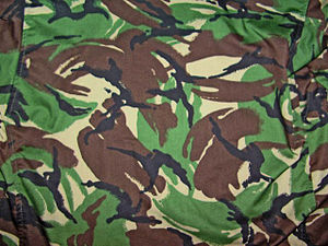Disruptive Pattern Material -  British Soldier 95 woodland pattern DPM, also known as DPM-95