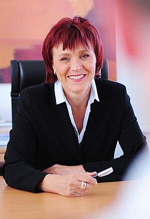 English: Charlotte Britz Mayor of Saarbruecken...