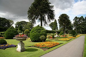 English: Brodsworth Hall flower garden Formal ...