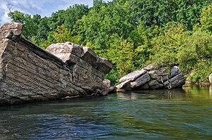 Broken Down Dam - Broken Down Dam ruins in the Otter Tail River, 2013